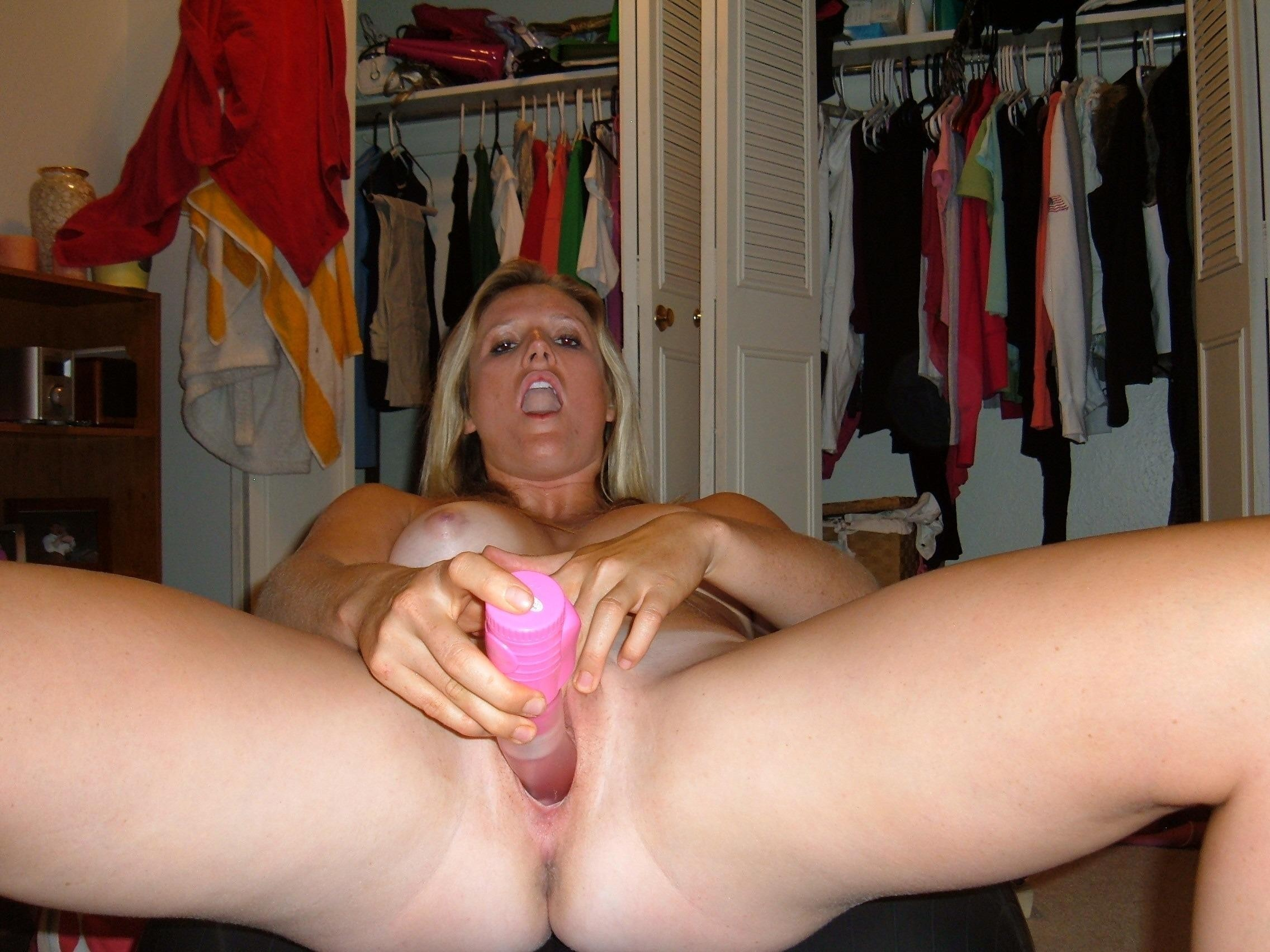 Naked Girlfriend Stretches For Toys