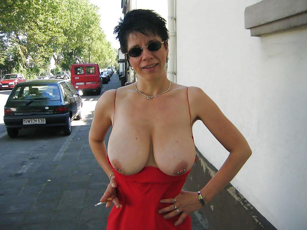 Flashing tits older 7