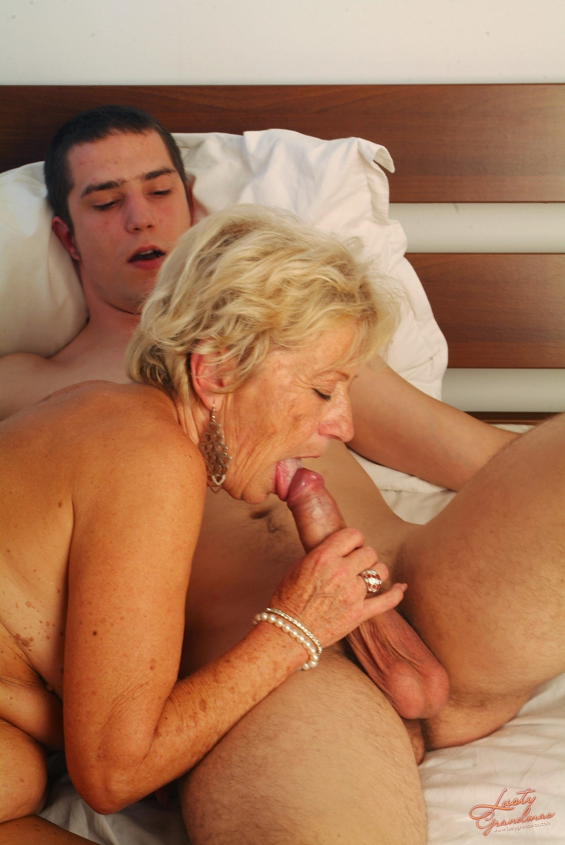 Mature Blonde Enjoying A Young Cock
