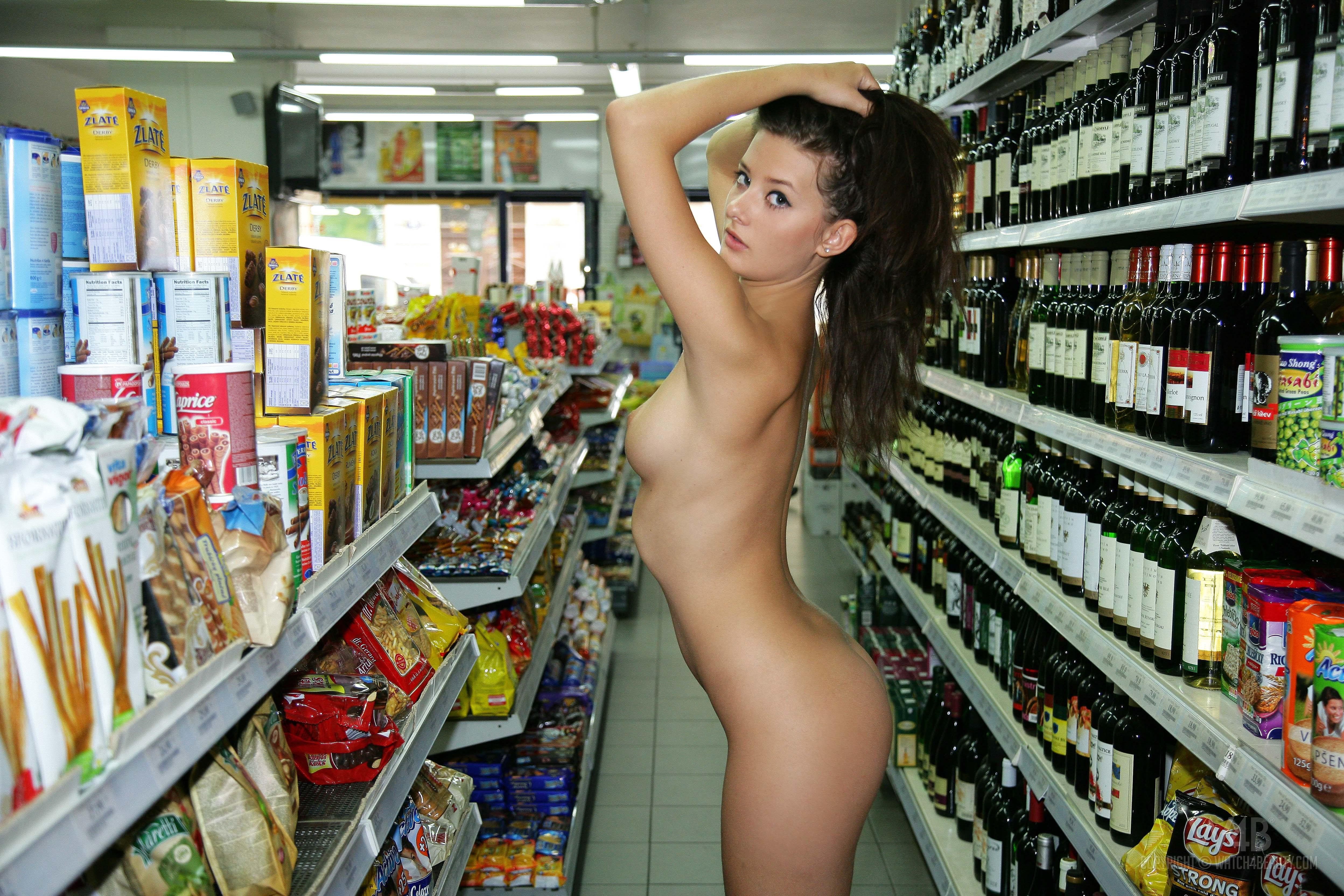 Woman naked shopping, nude uma jolie digital desire