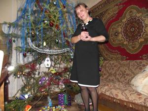 Зрелая русская пара в новогоднем запое - фото #1
