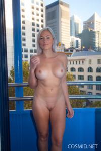 Грудастая блонда оголилась - фото #13