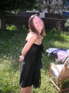 Худая француженка в разном белье и без оного - фото #46