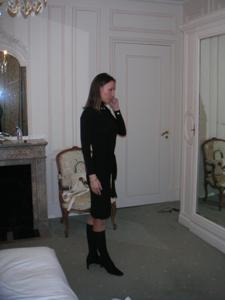 Худая француженка в разном белье и без оного - фото #8