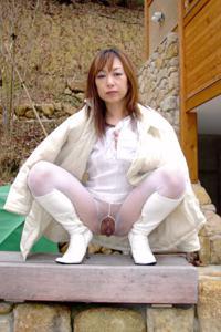 Неизвестная японская эксгибиционистка - фото #12