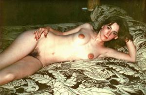 Ретро фото телки с прикольными сосками - фото #46