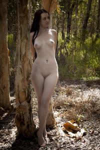 Худые девушки на природе