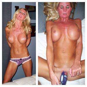 Зрелая жена с силиконовыми сиськами - фото #28