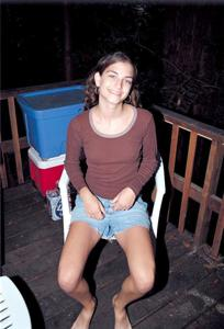 Волосатая киска худой девушки - фото #1