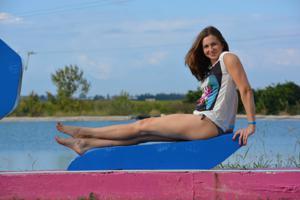 Спортсменка Настя в купальнике - фото #38