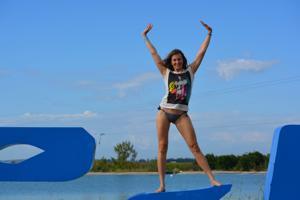 Спортсменка Настя в купальнике - фото #40