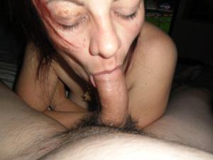 Пожилая Эвелина берет в рот - фото #5