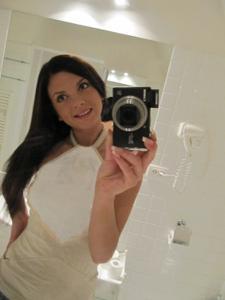Селфи стройной Аманды в ванной - фото #6