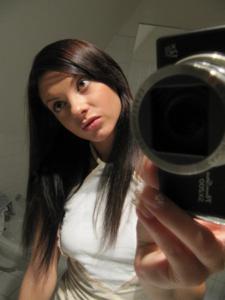 Селфи стройной Аманды в ванной - фото #8