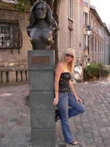 Возбуждающая блондинка с прелестной грудью - фото #13
