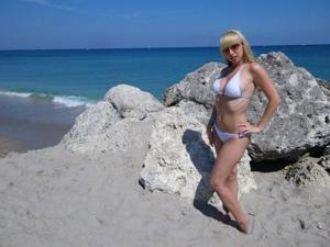 Возбуждающая блондинка с прелестной грудью - фото #59