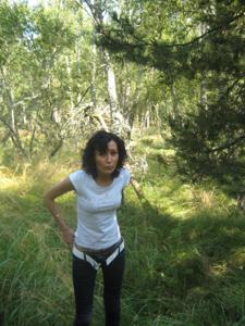 Брюнетка с плоской грудью - фото #35