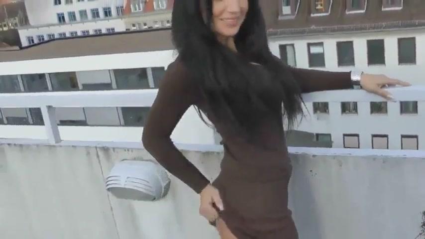 Секс на крыше с гламурной фифой